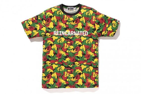 bape-snoop lion-rasta camo-t shirt