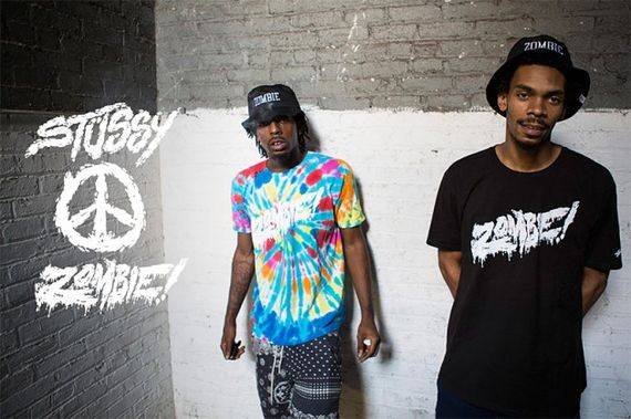 flatbush zombies-stussy-summer 2013 capsule collection