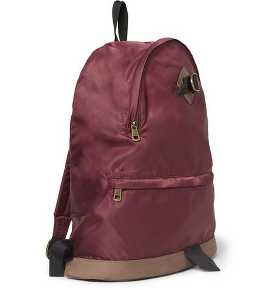 leather trimmed backpack-apc