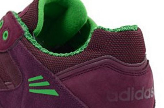 adidas-tech super-light maroon-running white