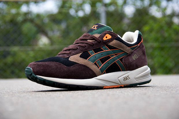 asics gel saga dark brown