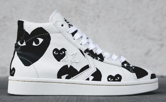 comme des garcons PLAY-converse-pro leather high