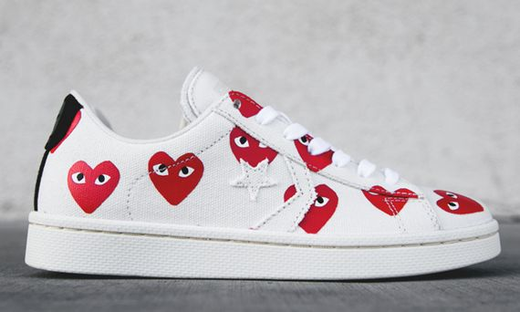 converse-pro leather low-commes des garcons