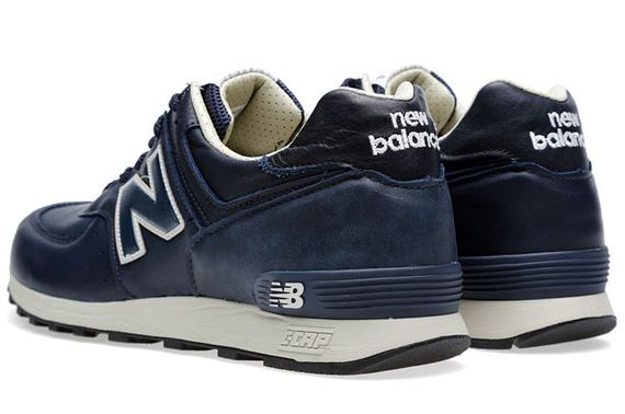 New Balance Navy Leather
