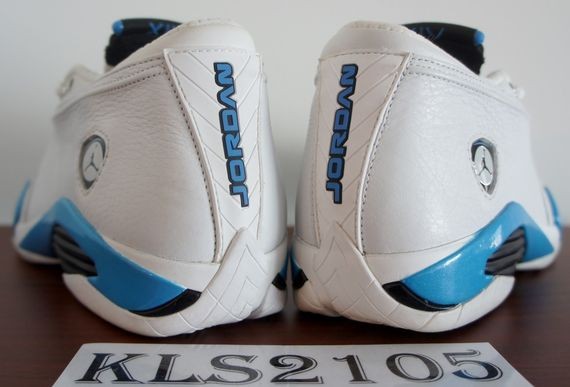 "air jordan 14 ""carolina"" 99' sample"