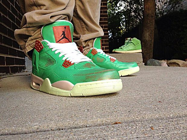 "air jordan 4 ""statue of liberty"" by astrotorf_04"
