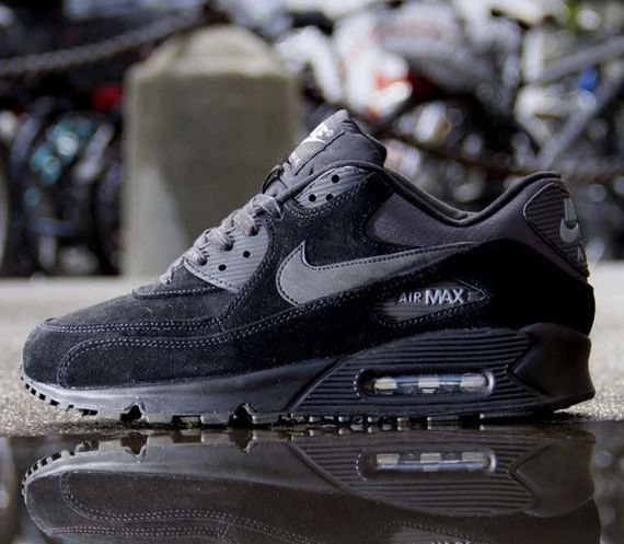 nike-air max 90-premium-black-dark charcoal-cool grey