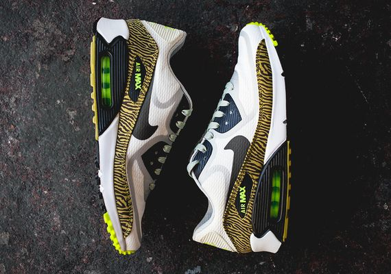 nike-air max 90 tape-reflective-yellow zebra