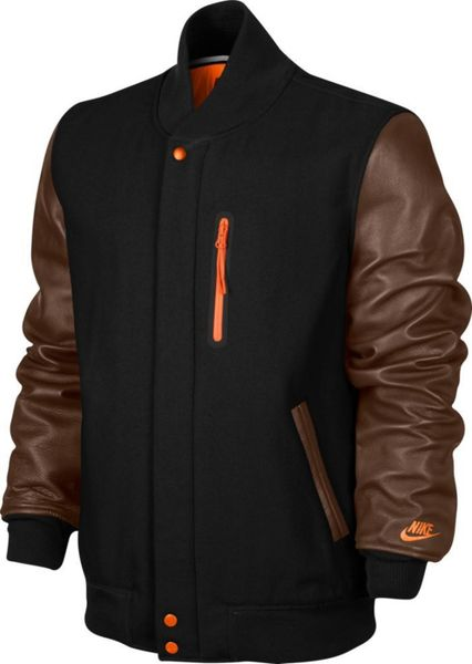 nike jacket brown