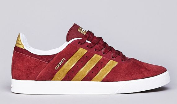 adidas skateboarding-busenitz-cardinal red-metallic gold