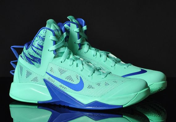 nike zoom-hyperfuse-green glow-game royal