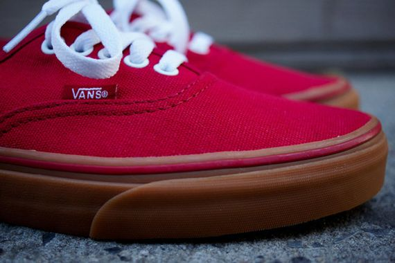 vans mono red authentic vans