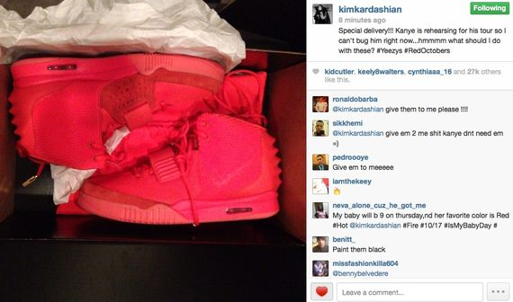 yeezy 2 red october-kim kardashian-instagram_02