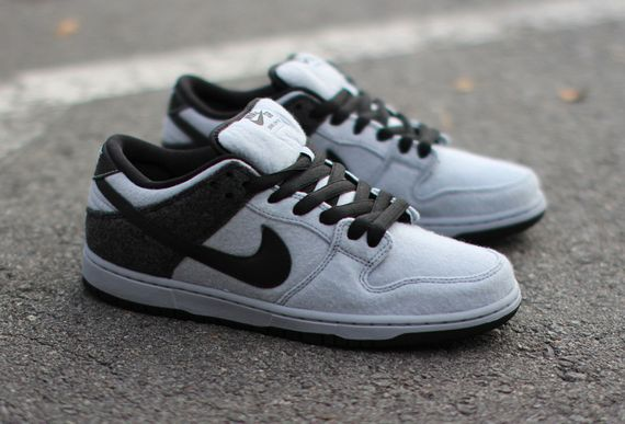 nike sb-dunk low-wool-black-grey