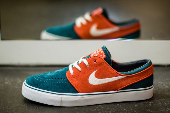 nike sb-stefan janoski-dark sea-team orange