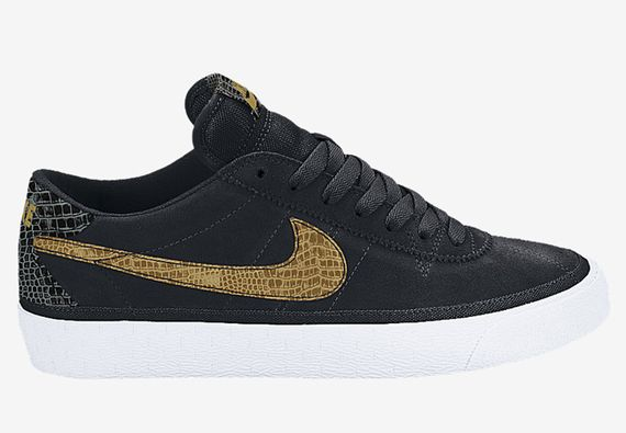 nike sb zoom-bruin-croc-black-metallic gold