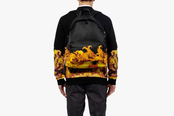 givenchy-flame print backpack