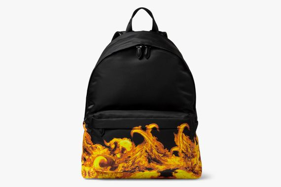 givenchy-flame print backpack_02