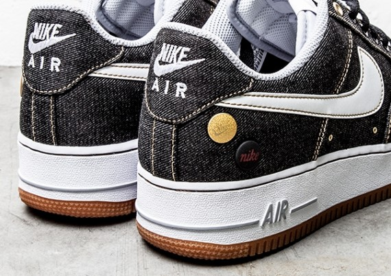 admiración amenazar Rocío  Nike Air Force 1 Low - Black Denim