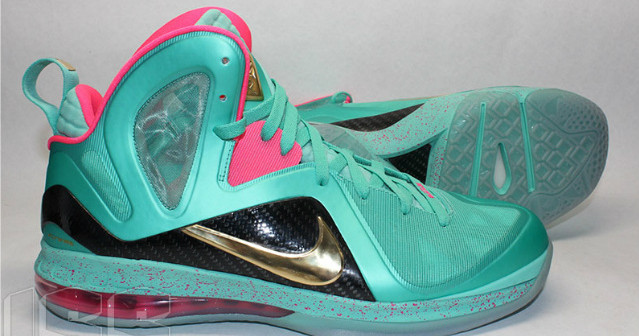 finest selection 65bdf ad789 nike-lebron-9-elite-south-beach-mvp-sample-