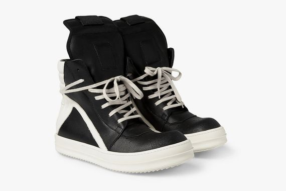 rick owens-leather hightops