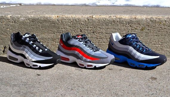best sneakers 67674 e2275 Nike Air Max 95 No-Sew - Spring 2014 Colorways