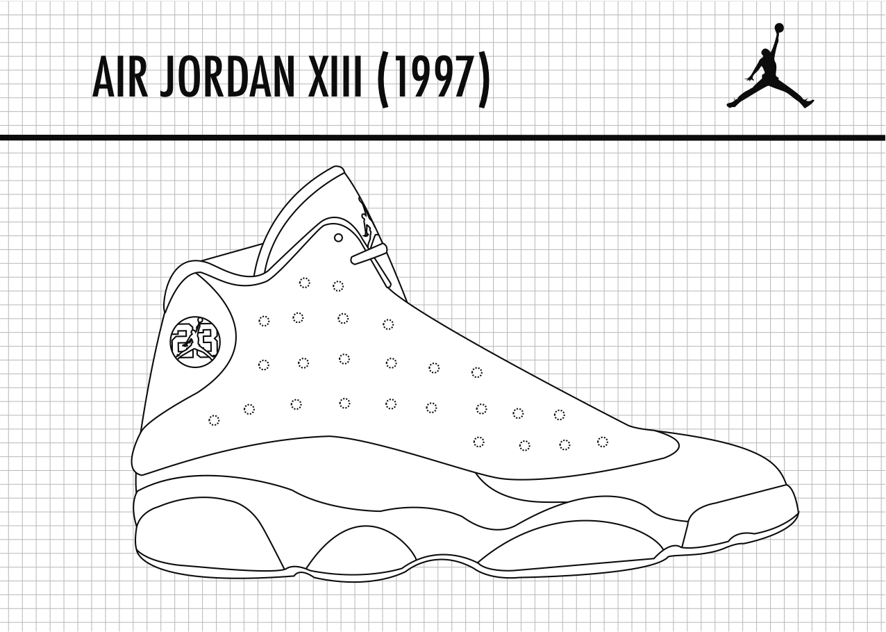 Jordan 13 Shoes Drawing Air Jordan 13 Fans Rejoice