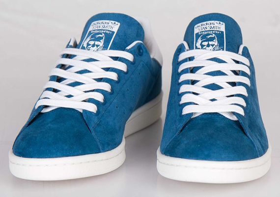 adidas-stan smith-suede-tribe blue