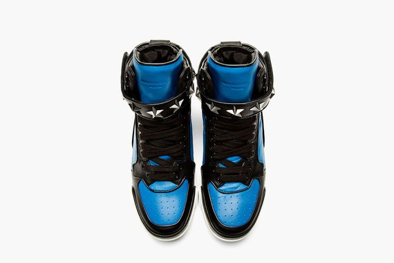 givenchy-leather high tops-blue-black