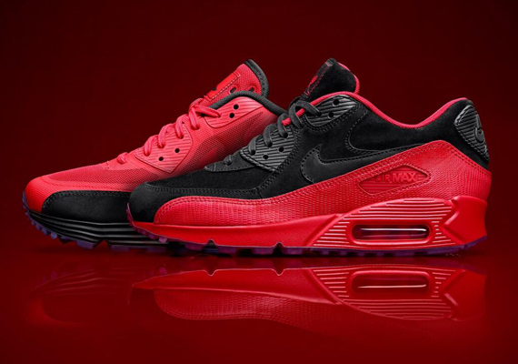 jessie-j-nike-air-max-90-red-rose