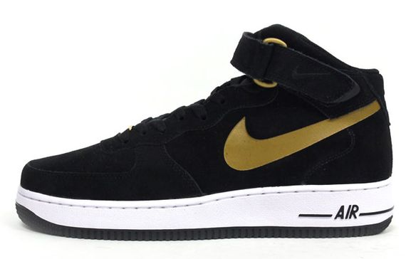 nike-air force 1 mid-black-gold-white_03