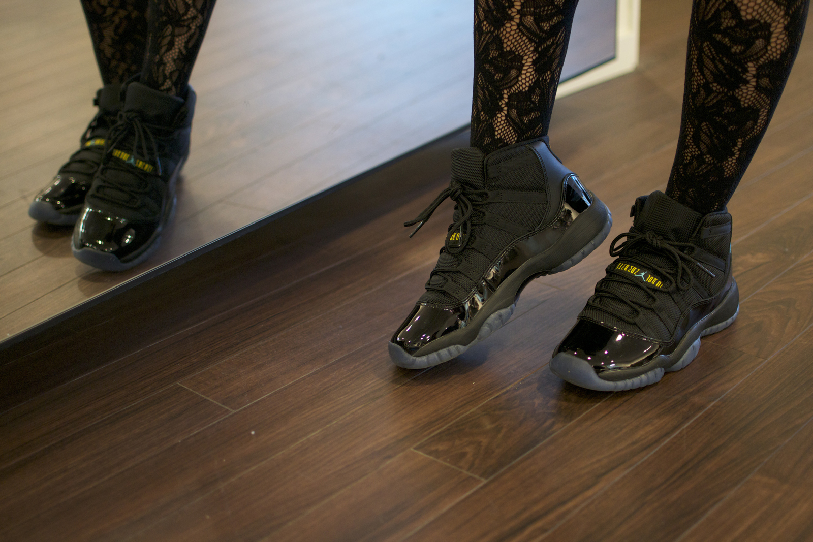 Jordan 11 Gamma Blue On Feet