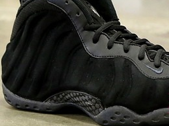 new arrive 9eeb2 04d7c nike-air-foamposite-one-black-suede-sample