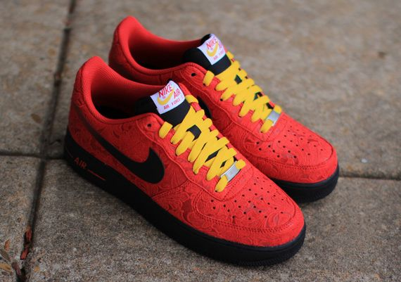 air force 1 red and yellow