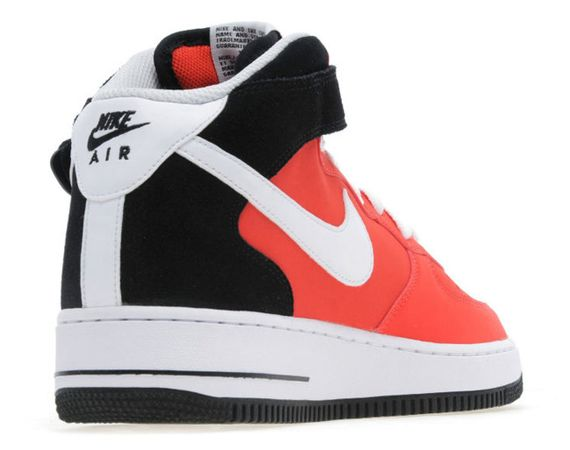 nike-air force 1 mid-crimson-black