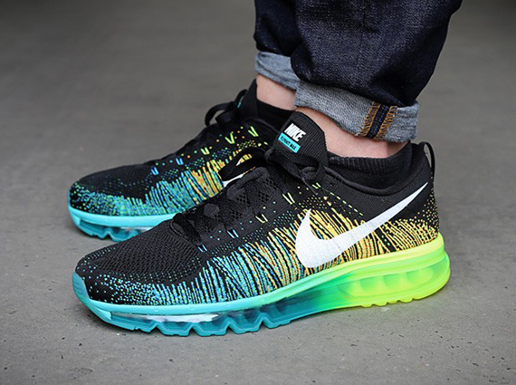 nike air max 2014 flyknit black