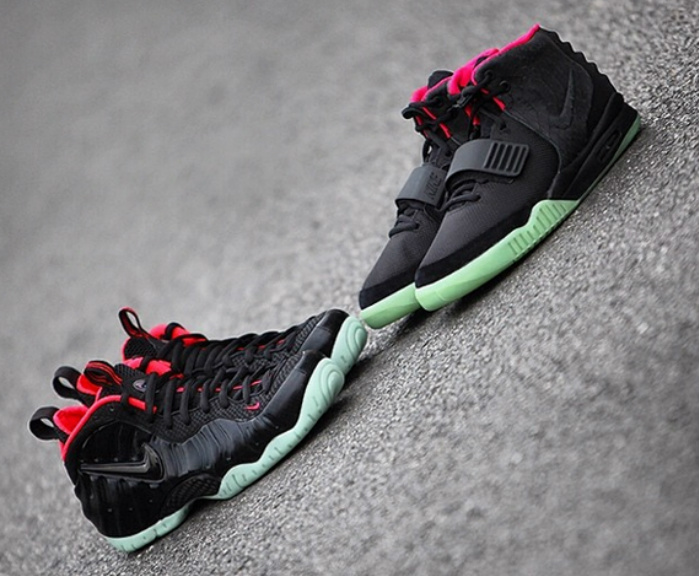 "Nike Air Foamposite Pro ""Yeezy"" and Nike Air Yeezy 2"