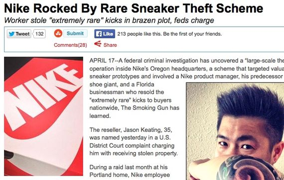 nike sneaker theft_result