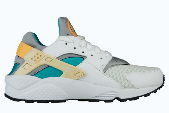 nike wmns-huarache-white-atomic orange-teal