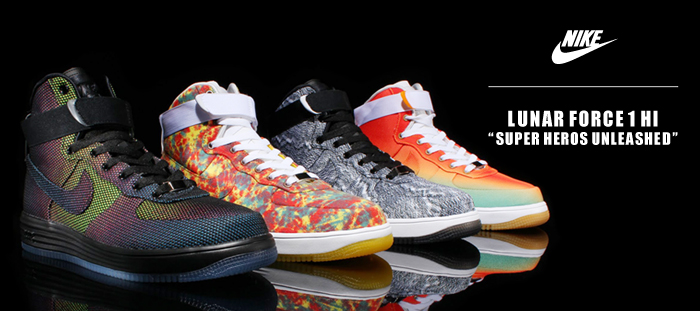 "brand new acc53 c06e9 Fresh out of the NSW Labs comes a 4 part Nike Lunar Force 1 collection  dubbed the ""Superheros Pack"". Each Lunar sports it s own intricate designs  and ..."