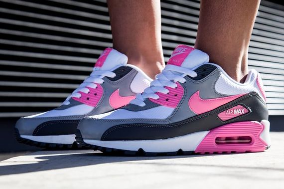 nike wmns-air max 90-pink glow