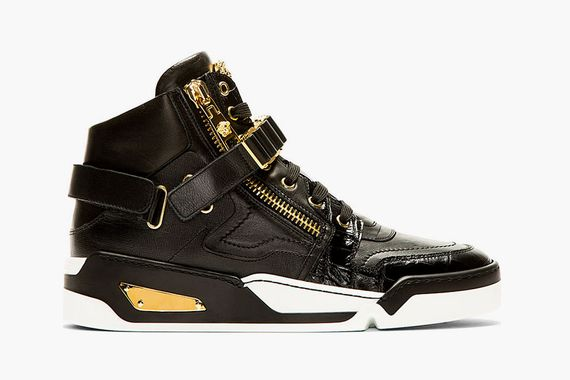 versace-black leather-hitops