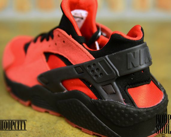 nike-air huarache-uni red-black