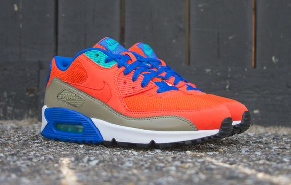 nike-air max 90-orange-cobalt-bamboo