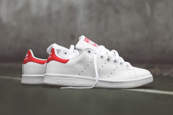 adidas-stan smith og-white-red