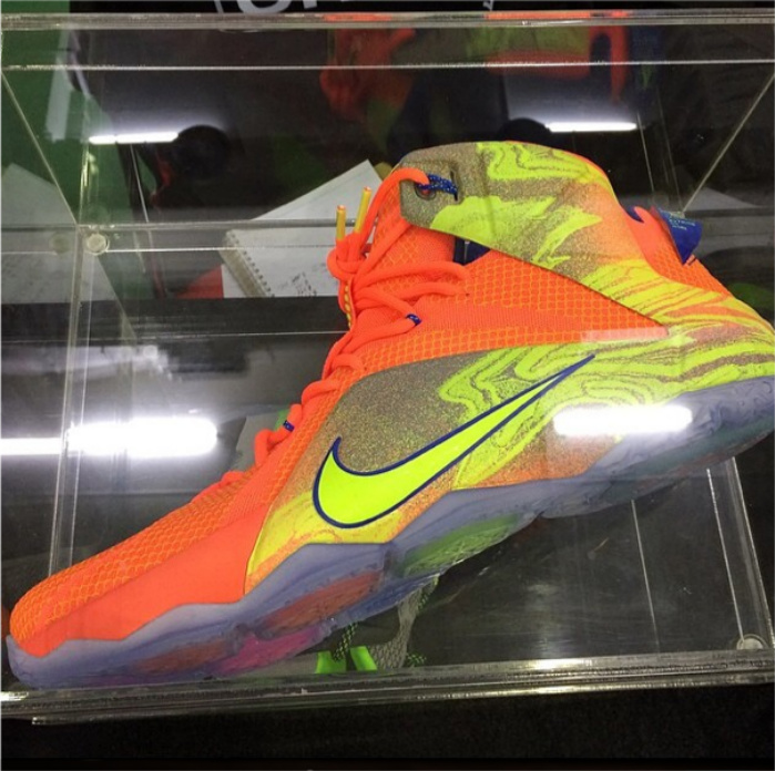 reputable site 6a5e7 a0f38 Nike LeBron 12 - Orange - Blue - Volt