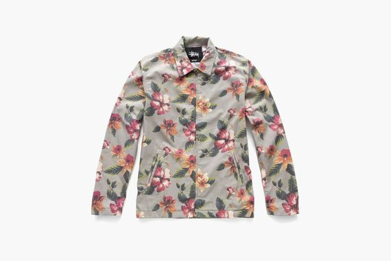 stussy-vintage flower coaches jacket