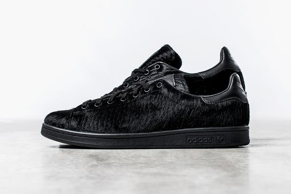 adidas originals-opening ceremony-stan smith-black pony hair