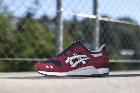 asics gel lyte burgundy soft grey