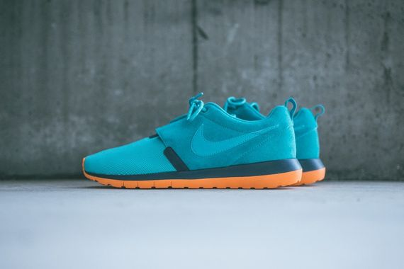 nike-roshe run nm-dusty cactus-spruce blue